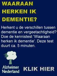 symptomen dementie alzheimer