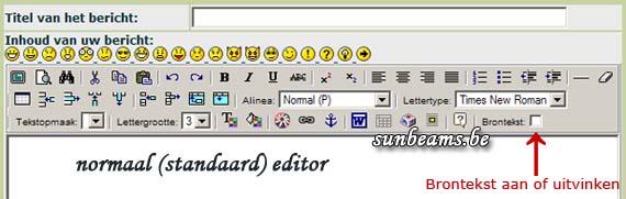 normale pictogrammen weergeven