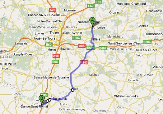 het kanaal op kaart