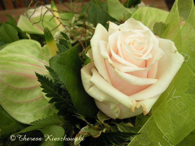 roos mini boeket zijde