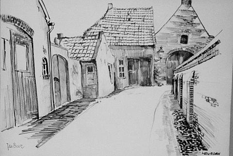 Tekeningen en schilderijen for Huizen tekenen
