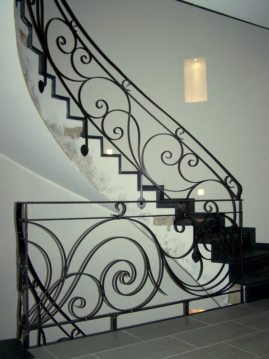 Trapleuningen kunstsmeedwerk atelier lebrun - Deco trap ...