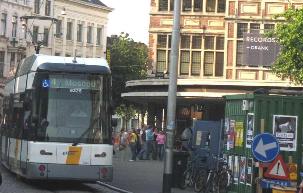 Bij deze enkele foto s van de tram naar moscou
