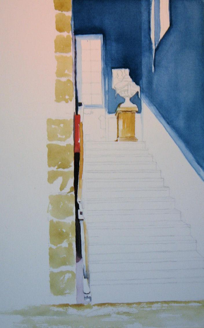 Pastel en andere tekeningen - Kleur trap schilderij ...