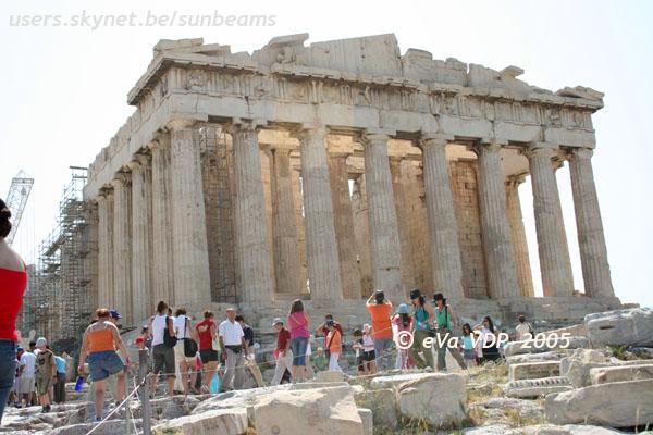 Athene. Het Parthenon op de Akropolis. Klik op de foto