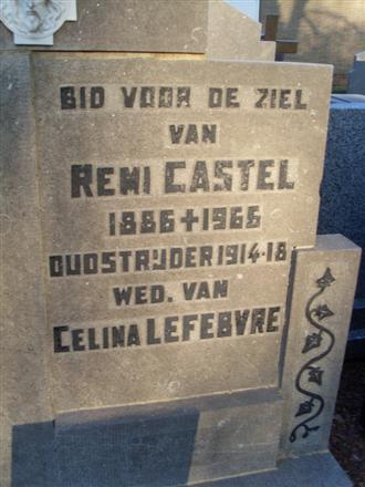 Remi – Frederic Castel overleden op 26 januari 1966 Oud-strijder 1914-1918 x