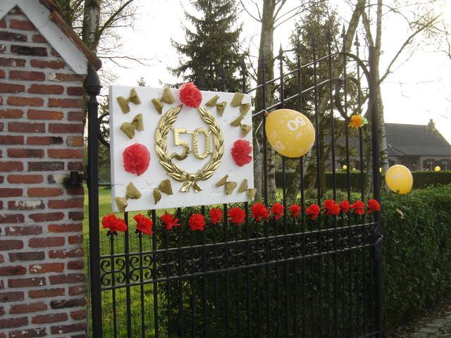 Recreatie for Gouden bruiloft versiering